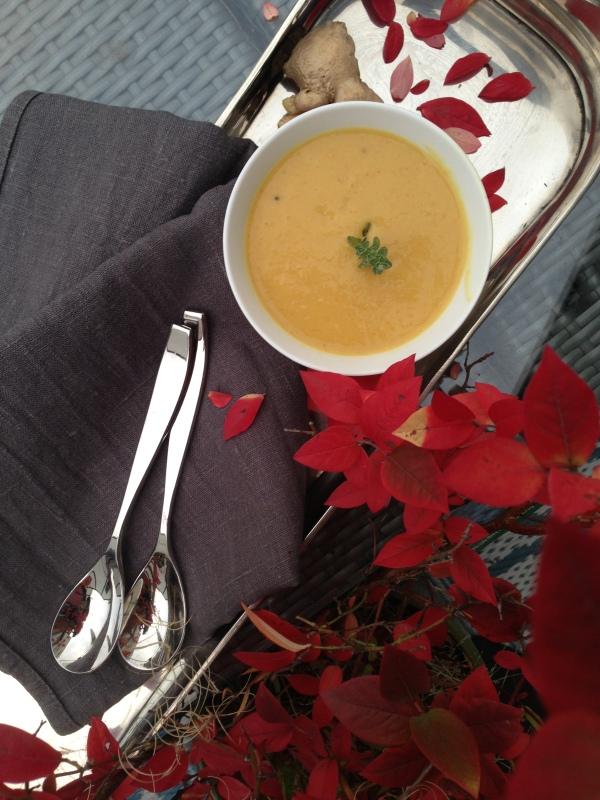 Titel-Mango-Ingwer-Suppe