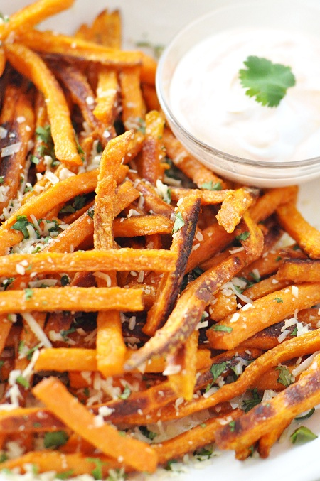 Baked_Sweet_Potato_French_Fries_Parmesan_Cilantro_1